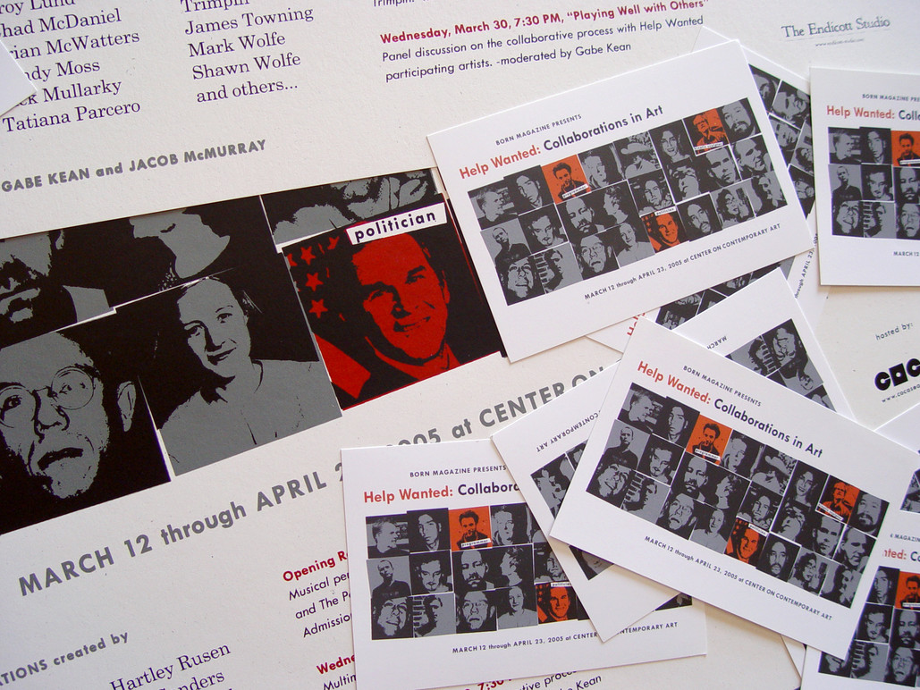 Posters and Postcards.
