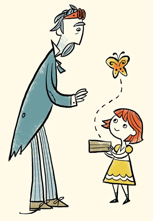 Belle & Mr. Wissell illustration.