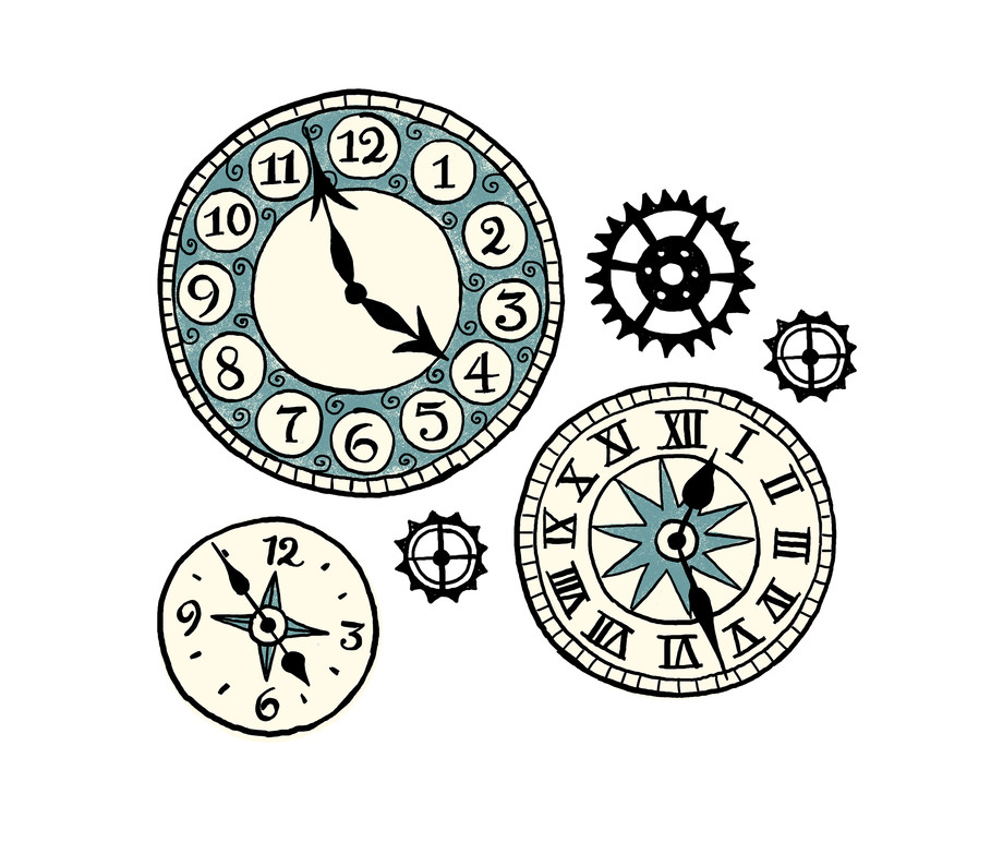 Clock artwork.