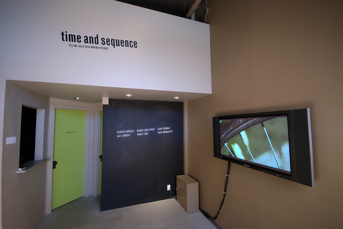 Title wall and video installation.