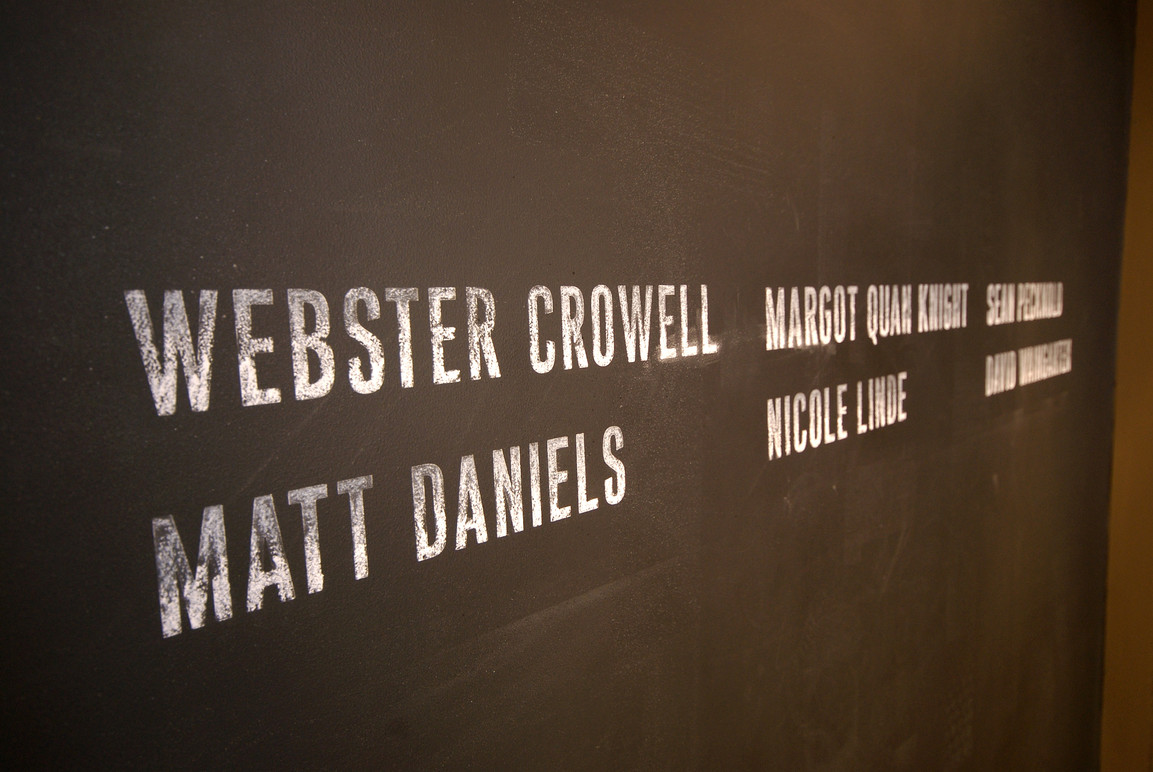 Title wall, detail.