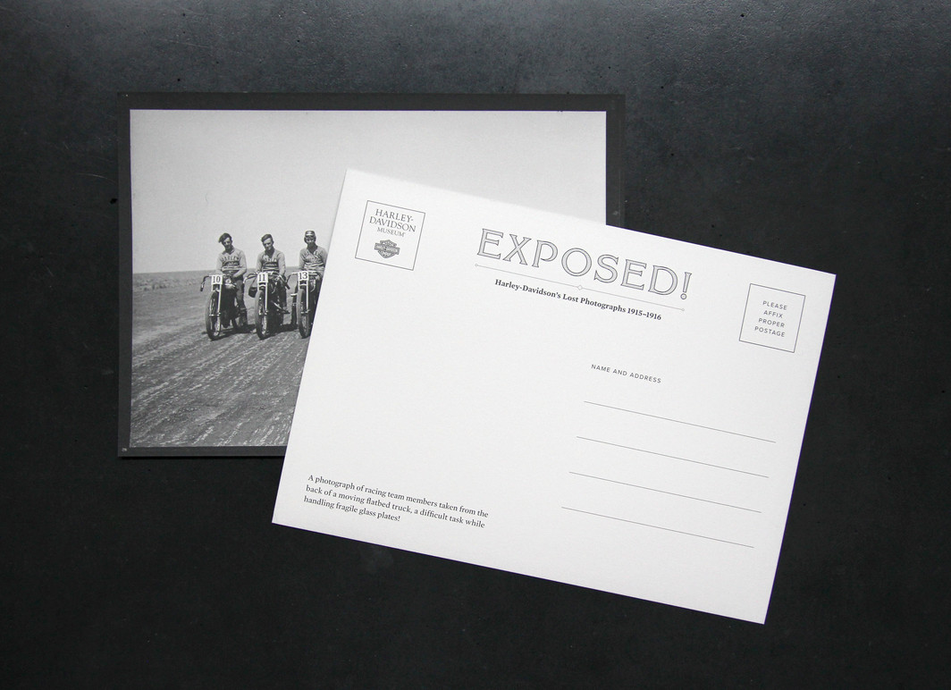 Front and back of postcard.