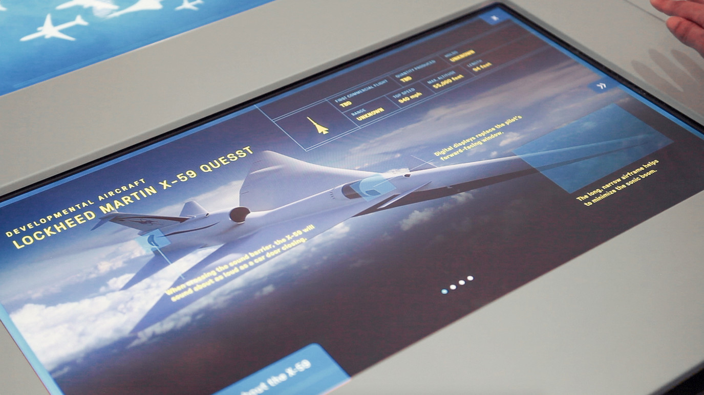 Detailed view of The Flock's user interface—highlighting both historic and future aircraft.