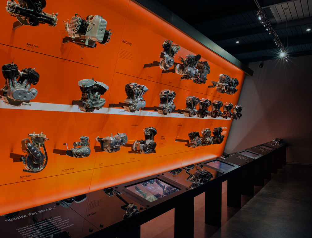 Multiple touch stations accompany the Engine Wall display