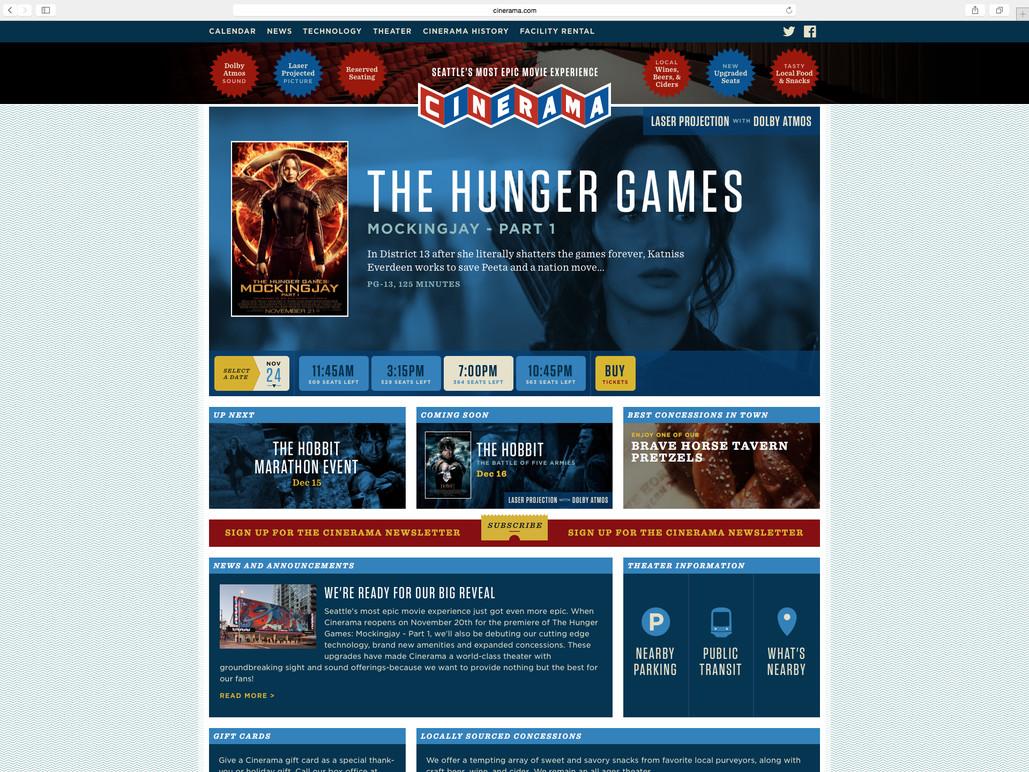 Desktop homepage.