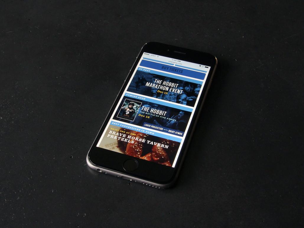 Mobile homepage.