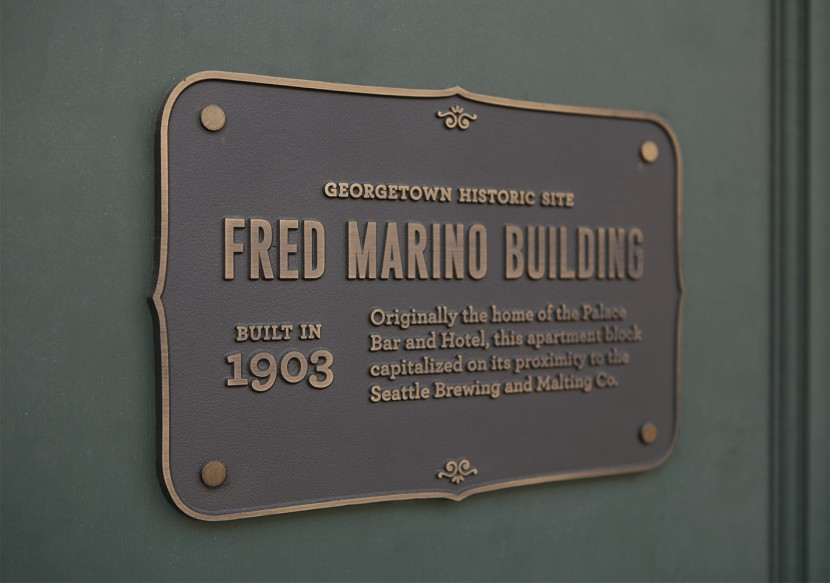 The Fred Marino Building now houses various local businesses and restaurants.