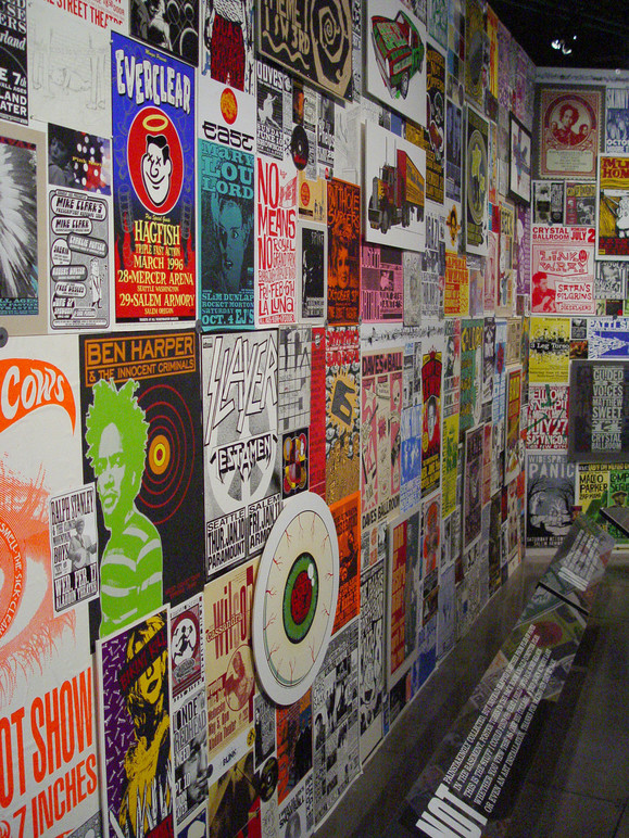 Poster wall.