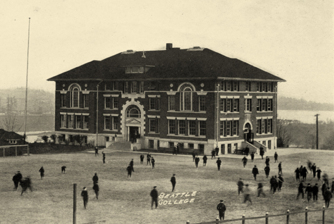 Seattle College in 1919.