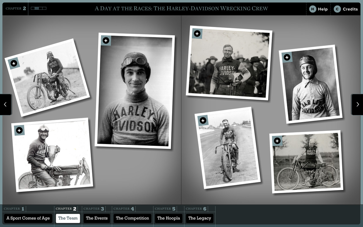 The scrapbook layout allows for a wide range of images to be shown.