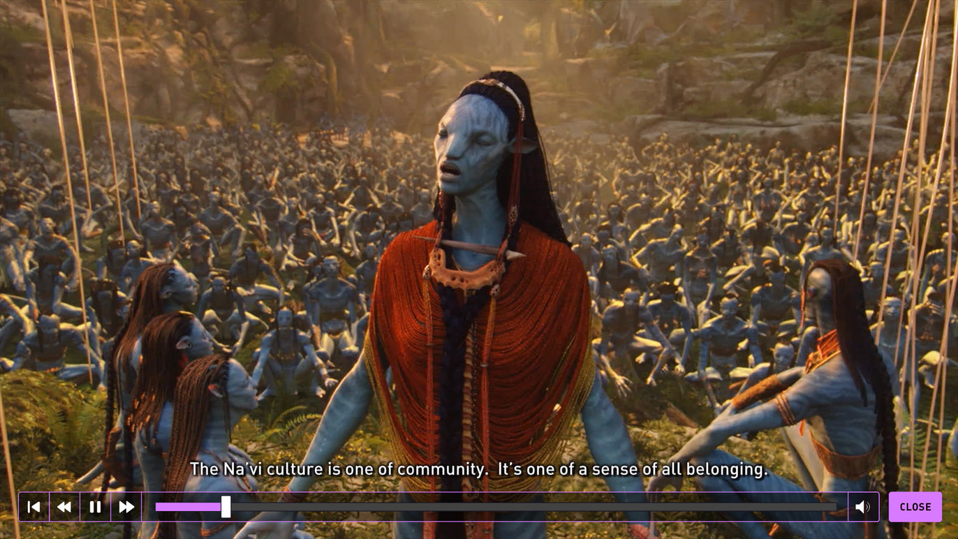 Learning about the Na'vi culture.