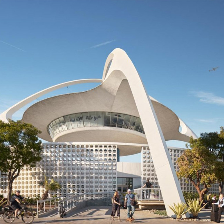 The iconic Theme Building at LAX is the new home for Bob Hope USO